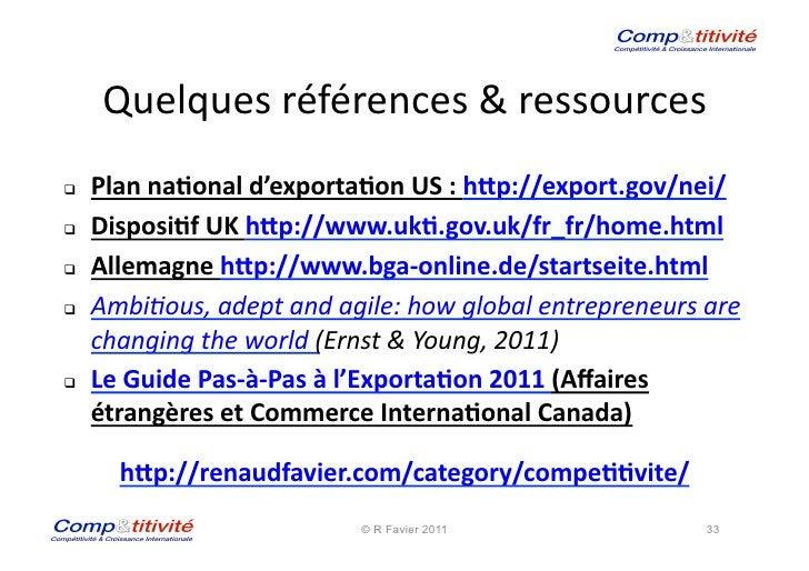 Quelques références & ressources                                                  Plan na&onal d'exporta&on...