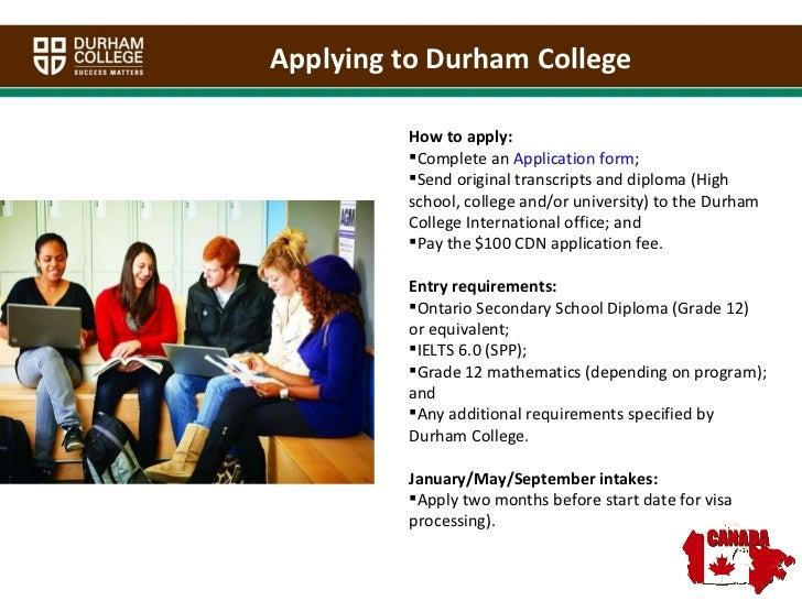Durham college ppt india final - Durham university international office ...