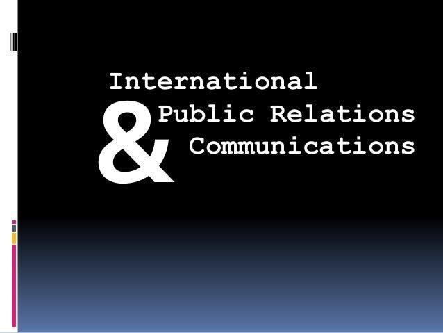 International Public Relations Communications &