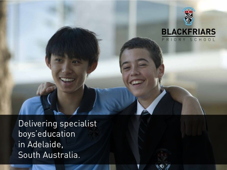 Delivering specialistboys'educationin Adelaide,South Australia.