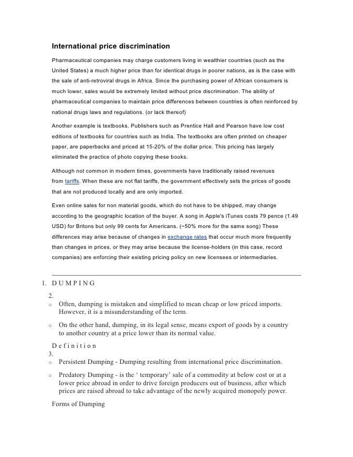 Discrimination Essay