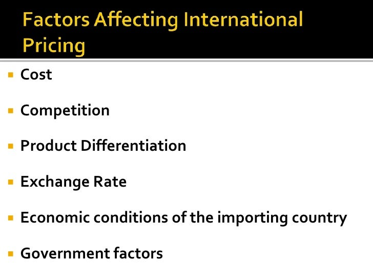 factors affecting the exchange rate of