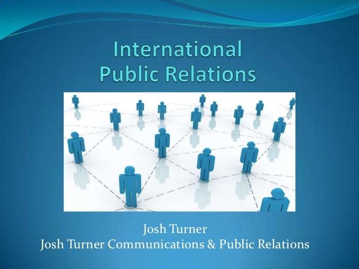 Josh TurnerJosh Turner Communications & Public Relations