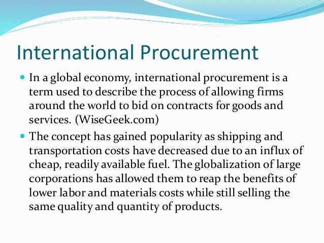 in international logistics paper procurement research So, it begs the question, what is transportation and logistics management and are they the same thing what is transportation and logistics management according to wikipedia, transportation is defined as the movement of people, animals and goods from one location to another modes of transport include air, rail, road, water, cable.