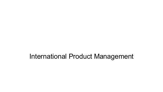 International Product Management