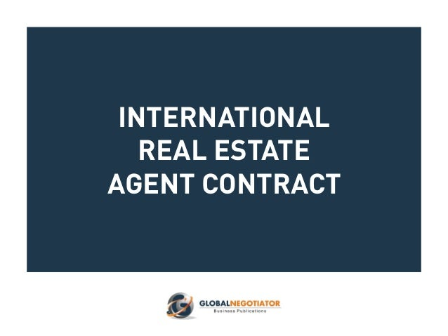 International Real Estate : International real estate agent contract
