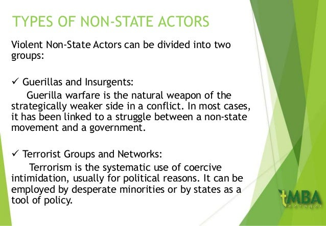 State actors in international relations