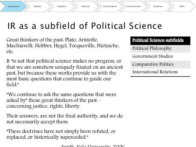 theories of international relations realism liberalism constructivism pdf