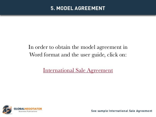 International sale agreement template for Manufacturers rep agreement template