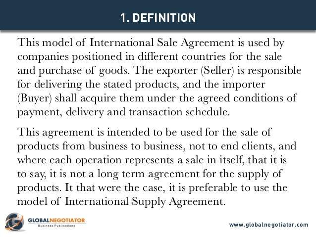 International Sale Agreement Template