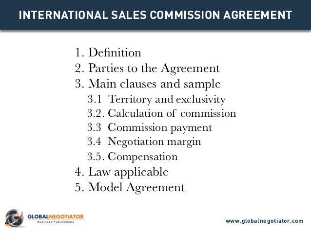 INTERNATIONAL SALES COMMISION AGREEMENT