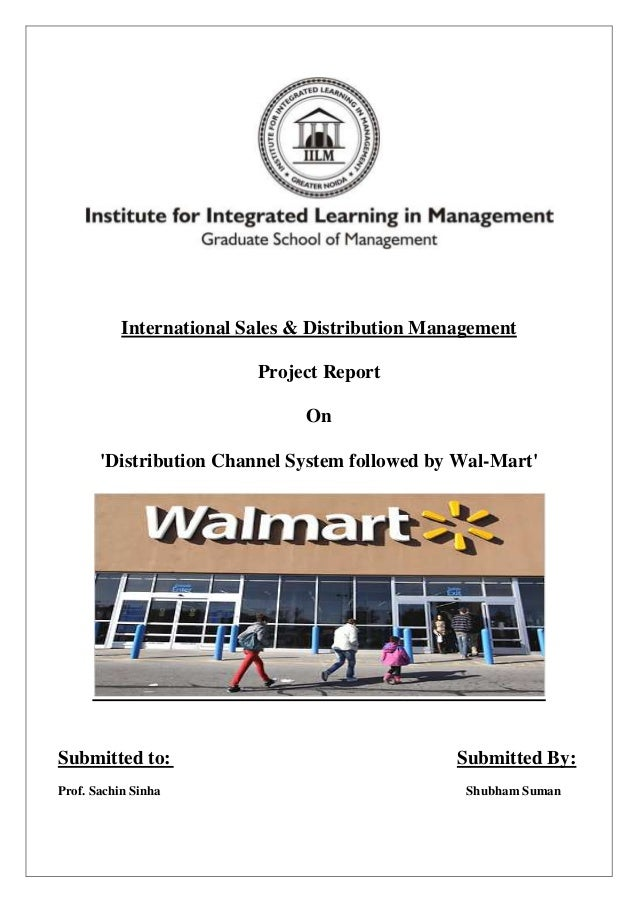 International Sales & Distribution Management                          Project Report                                On   ...
