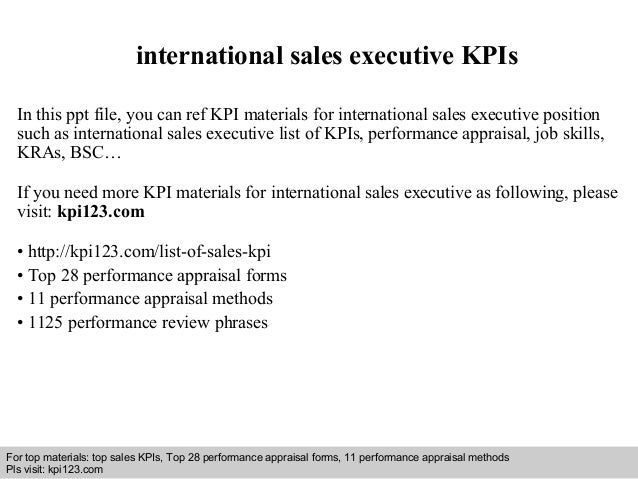 interview questions and answers free download pdf and ppt file international sales executive kpis - International Sales Representative