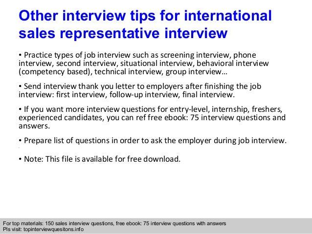 10 - International Sales Representative
