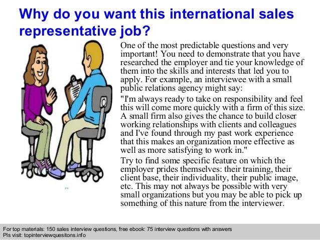 international sales representative interview questions and answers - International Sales Representative