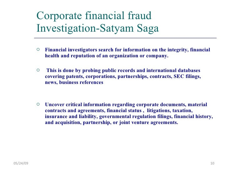 satyam fraud scam