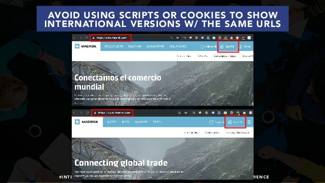 #INTERNATIONALSEO BY @ALEYDA FROM #ORAINTI AT #SHENZHENSEOCONFERENCE AVOID USING SCRIPTS OR COOKIES TO SHOW INTERNATIONAL ...