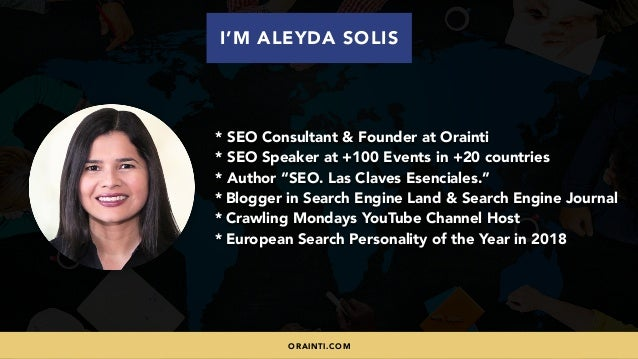 #INTERNATIONALSEO BY @ALEYDA FROM #ORAINTI AT #SHENZHENSEOCONFERENCE * SEO Consultant & Founder at Orainti * SEO Speaker a...