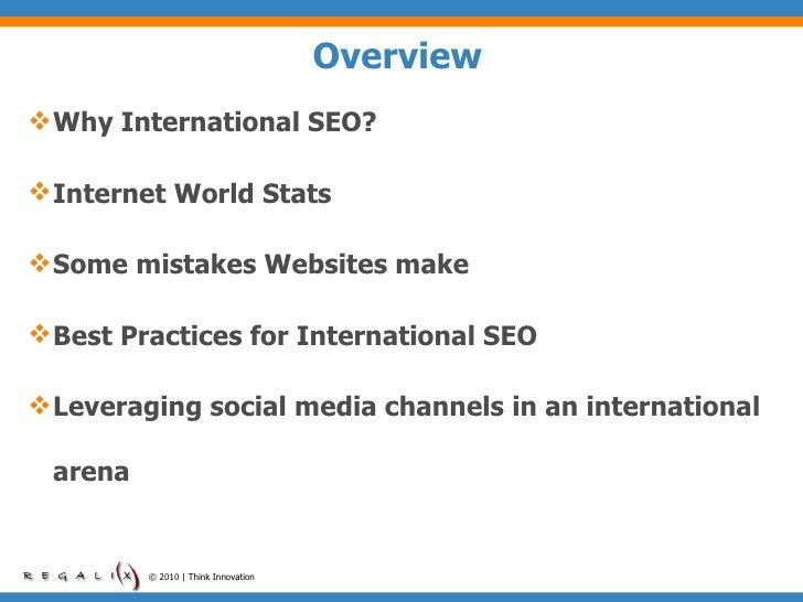 International SEO Best Practices 2010 Slide 2