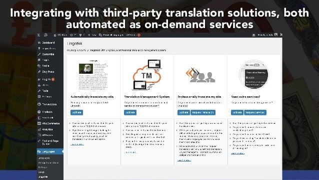 #GLOBALECOMMERCESEO BY @ALEYDA FROM #ORAINTI AT #SEJSUMMIT Integrating with third-party translation solutions, both automa...
