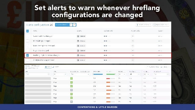 #GLOBALECOMMERCESEO BY @ALEYDA FROM #ORAINTI AT #SEJSUMMITCONTENTKING & LITTLE WARDEN Set alerts to warn whenever hreflang...