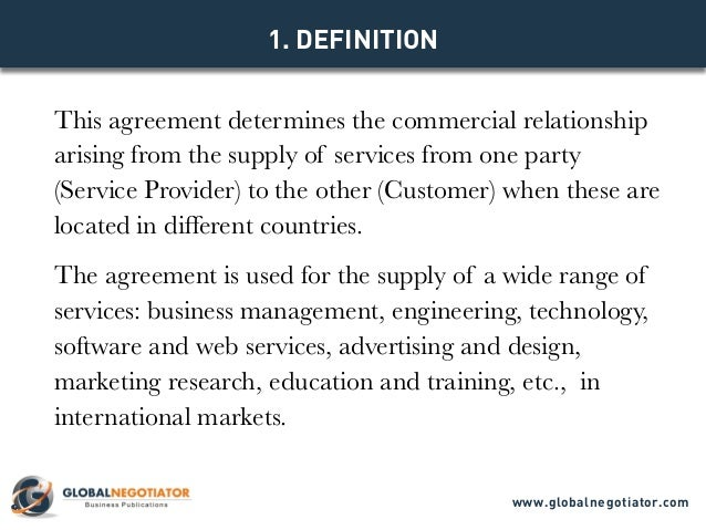Model Agreement Www.globalnegotiator.com; 2. This Agreement Determines The  Commercial ...