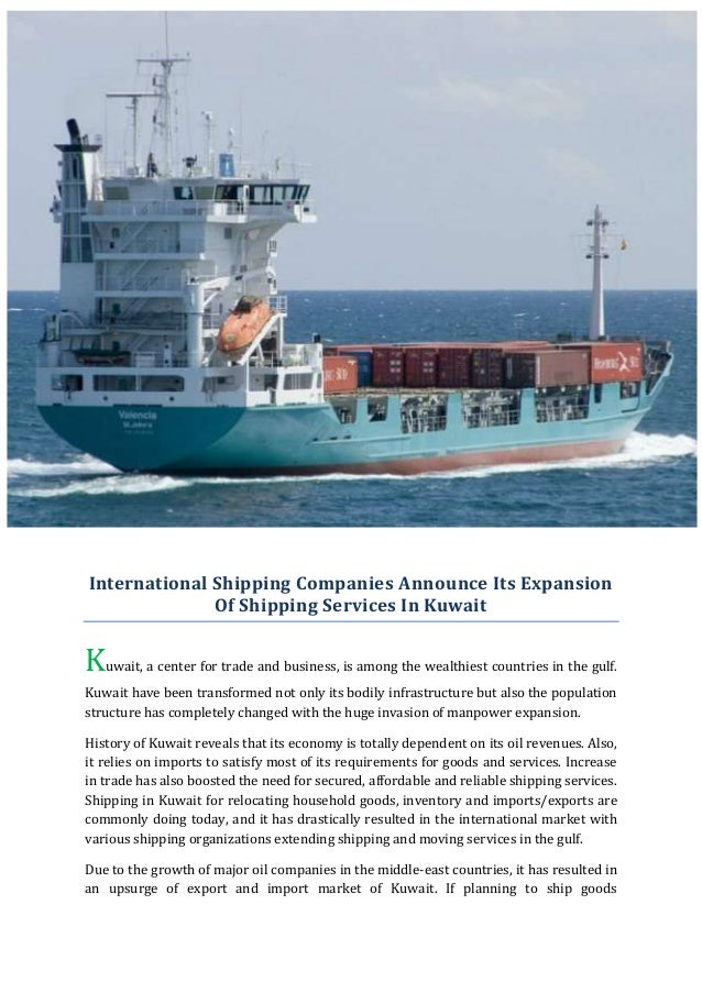 International shipping companies announce its expansion of