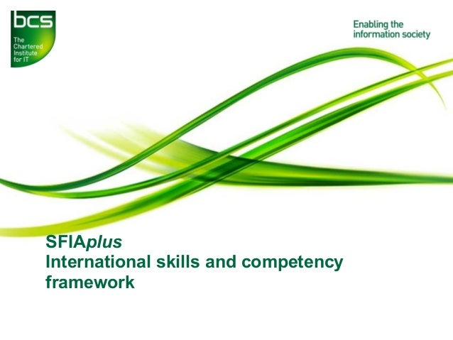SFIAplus International skills and competency framework
