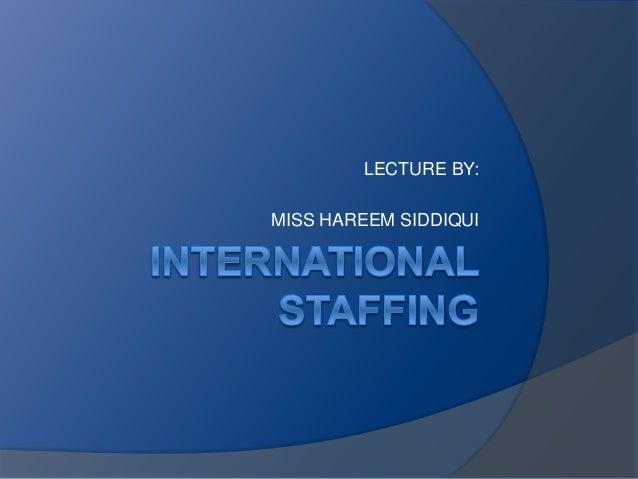 International Staffing