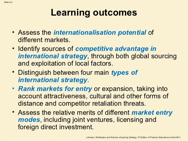 different strategies to enter into international markets