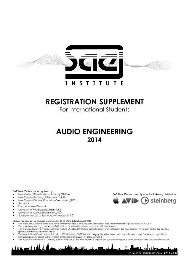 Sae institute international student audio enrolment form yadclub Images