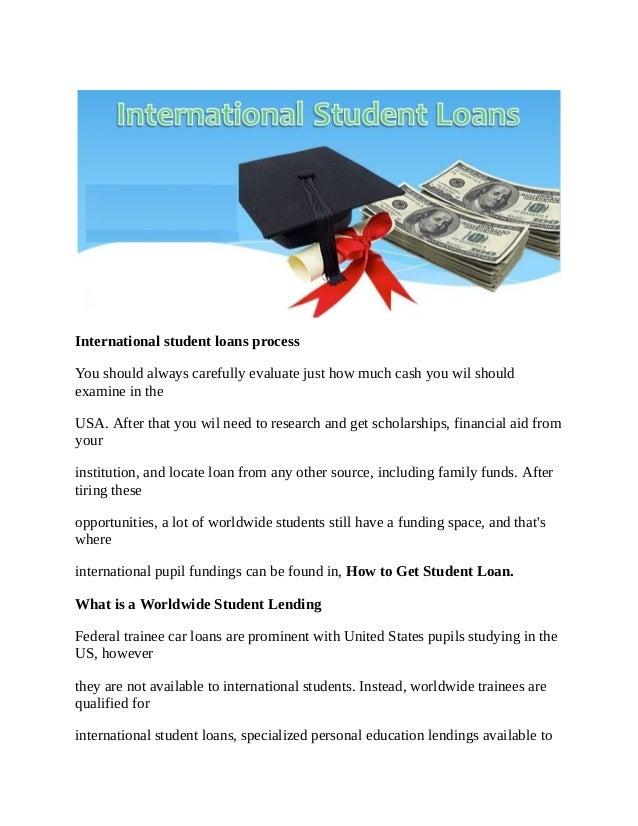 Internationalstudent loans process