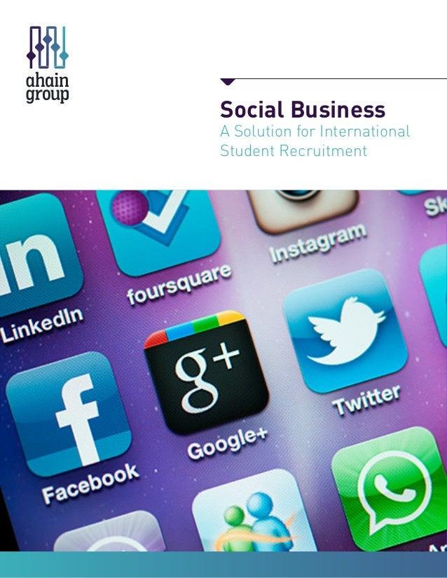 Social Business A Solution for International Student Recruitment