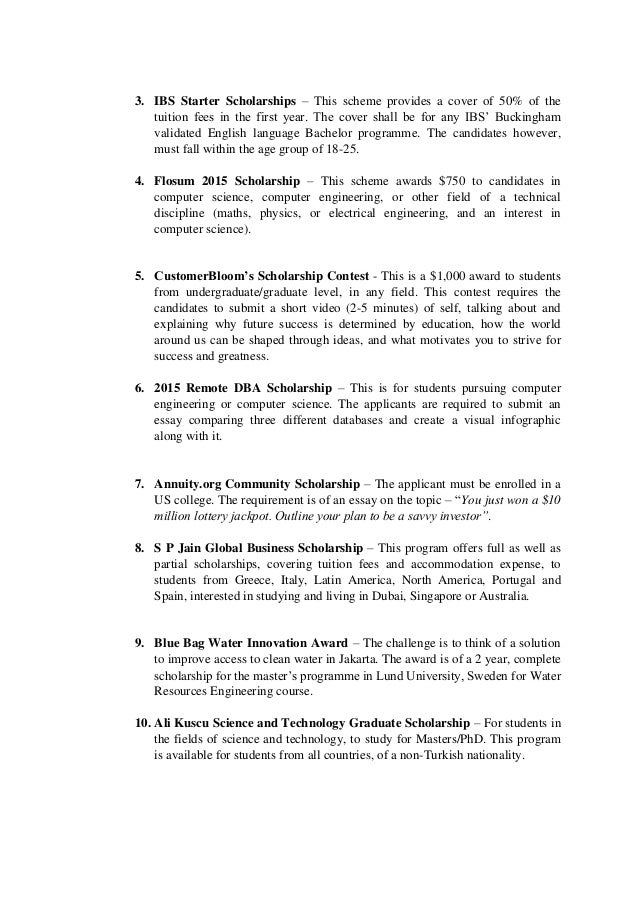 L'oreal Essay Scholarships - image 6