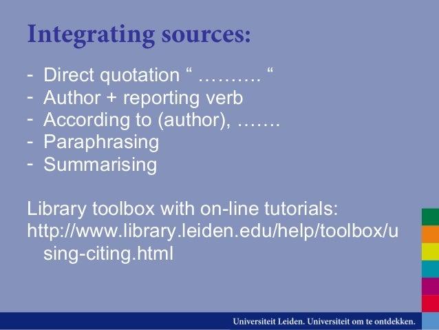 Paraphrasing reporting verbs