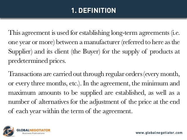International Supply Agreement Template