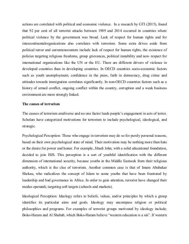 causes of terrorism in africa pdf