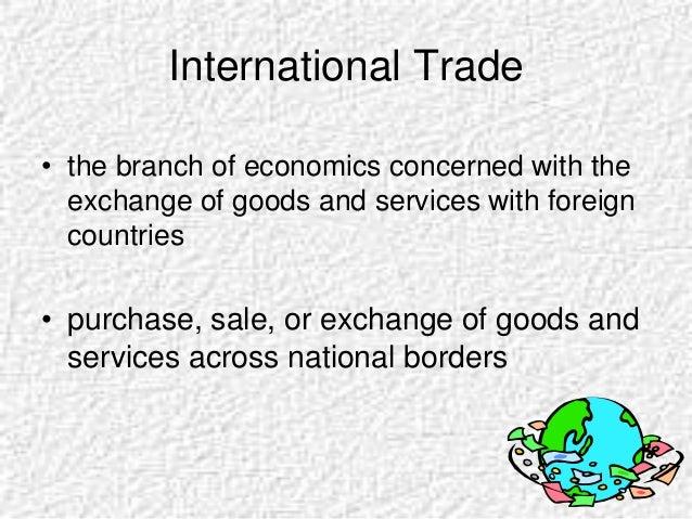 International trade presentation
