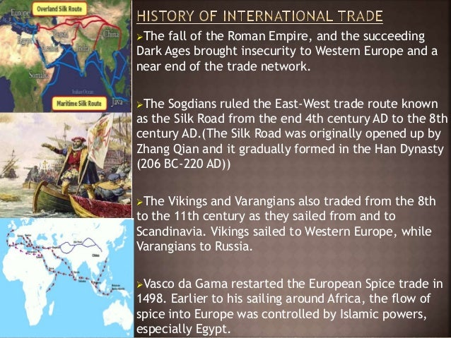 A history of the long distance trade between china europe and the middle east