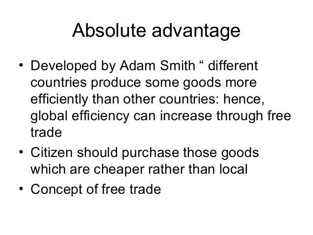 theories of international trade by adam smith pdf