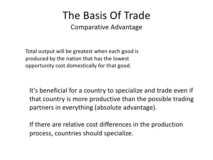 International trade lessons – Comparative Advantage Worksheet