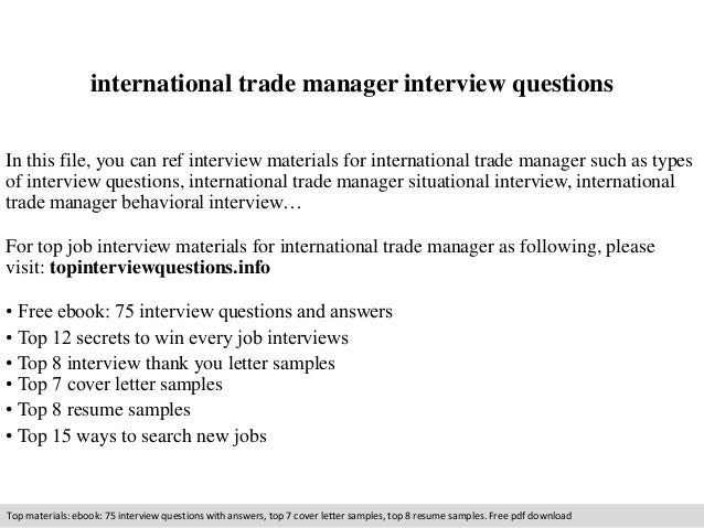 International trade manager interview questions 1 638gcb1411084243 international trade manager interview questions in this file you can ref interview materials for international yelopaper Choice Image