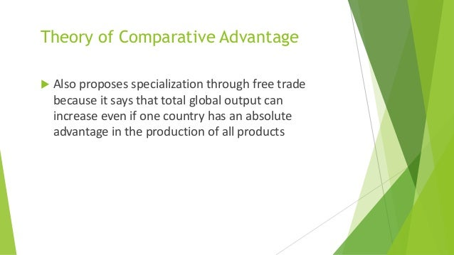 acquired advantage trade theories Key words: revealed comparative advantage, real effective exchange rate, export ,  much of trade theory focus on underlying reasons for international trade.