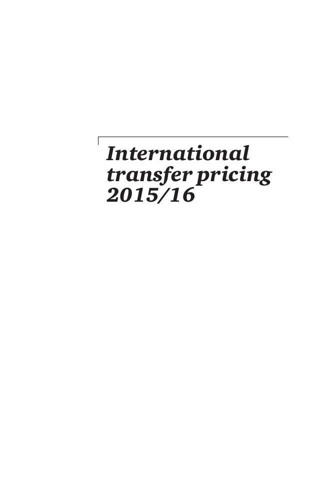 International transfer pricing 2015/16