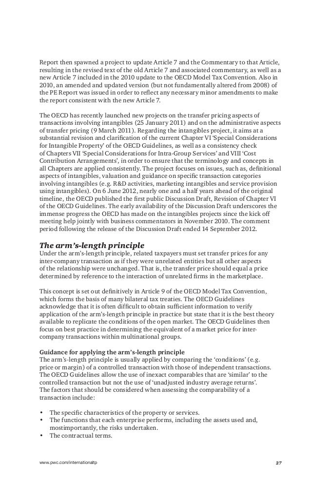 27www.pwc.com/internationaltp Report then spawned a project to update Article 7 and the Commentary to that Article, result...