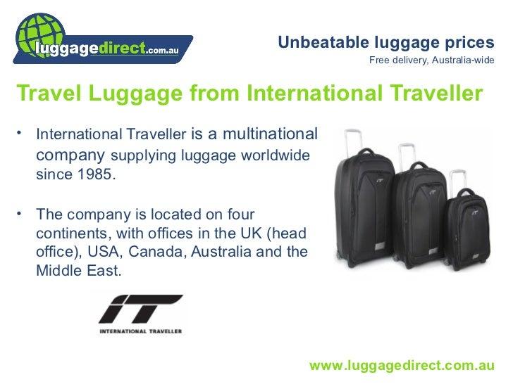 International Traveller Luggage Australia