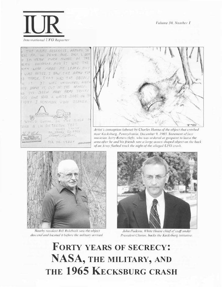 Volume 30, Number I    International UFO Reporter      ·THE AR..M/        !<E>ER.V£S. ARno�v. wGr.       ff.   v}.:   PENN...