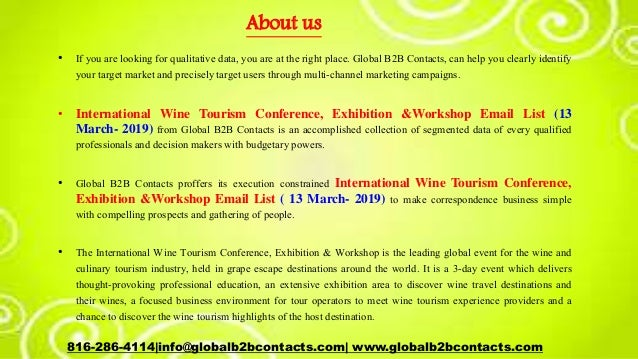International wine tourism conference, exhibition &