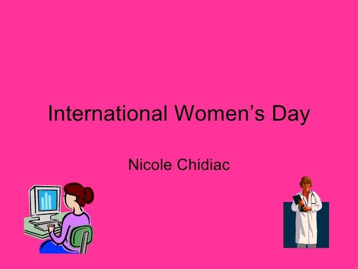 International Women's Day Nicole Chidiac