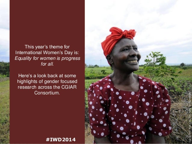 Here's a look back at some highlights of gender focused research across the CGIAR Consortium.  #IWD2014  Source: CIAT Flic...